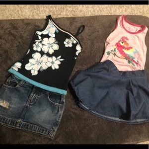 Other - 4T skirts and 5T tops